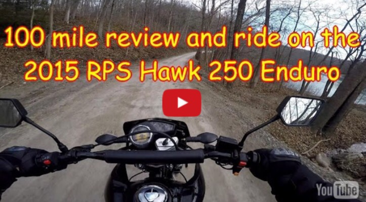 Hawk 250 RPS 100 Mile Review Video by MotoCheez