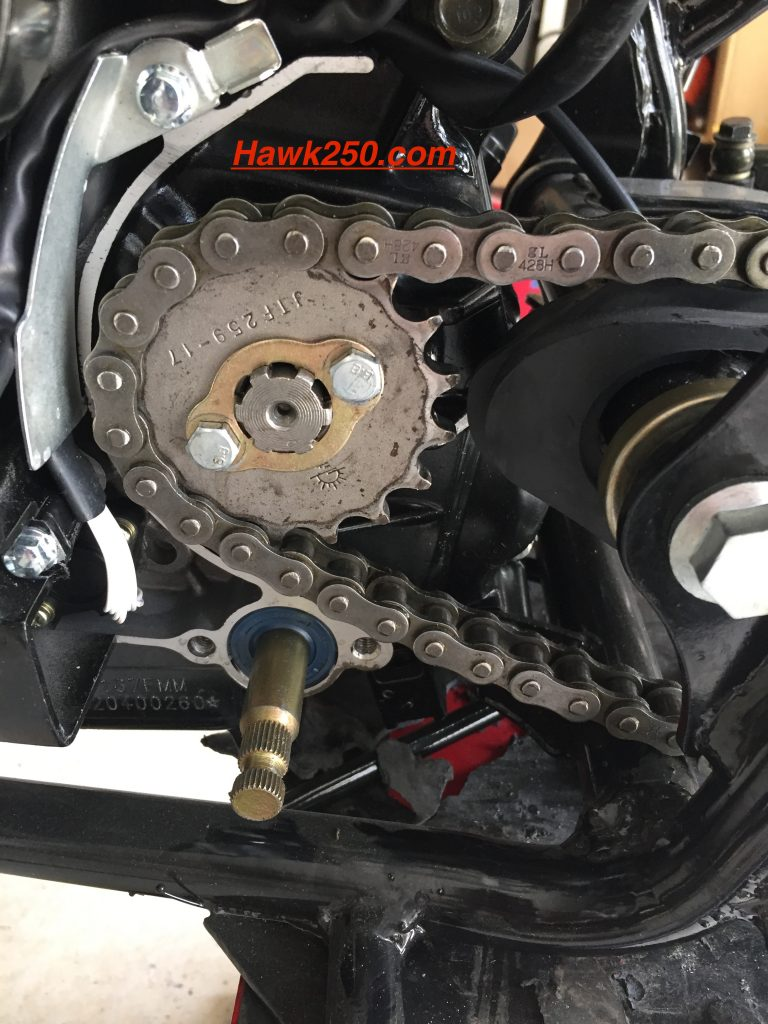 Hawk 250 Sprocket Change