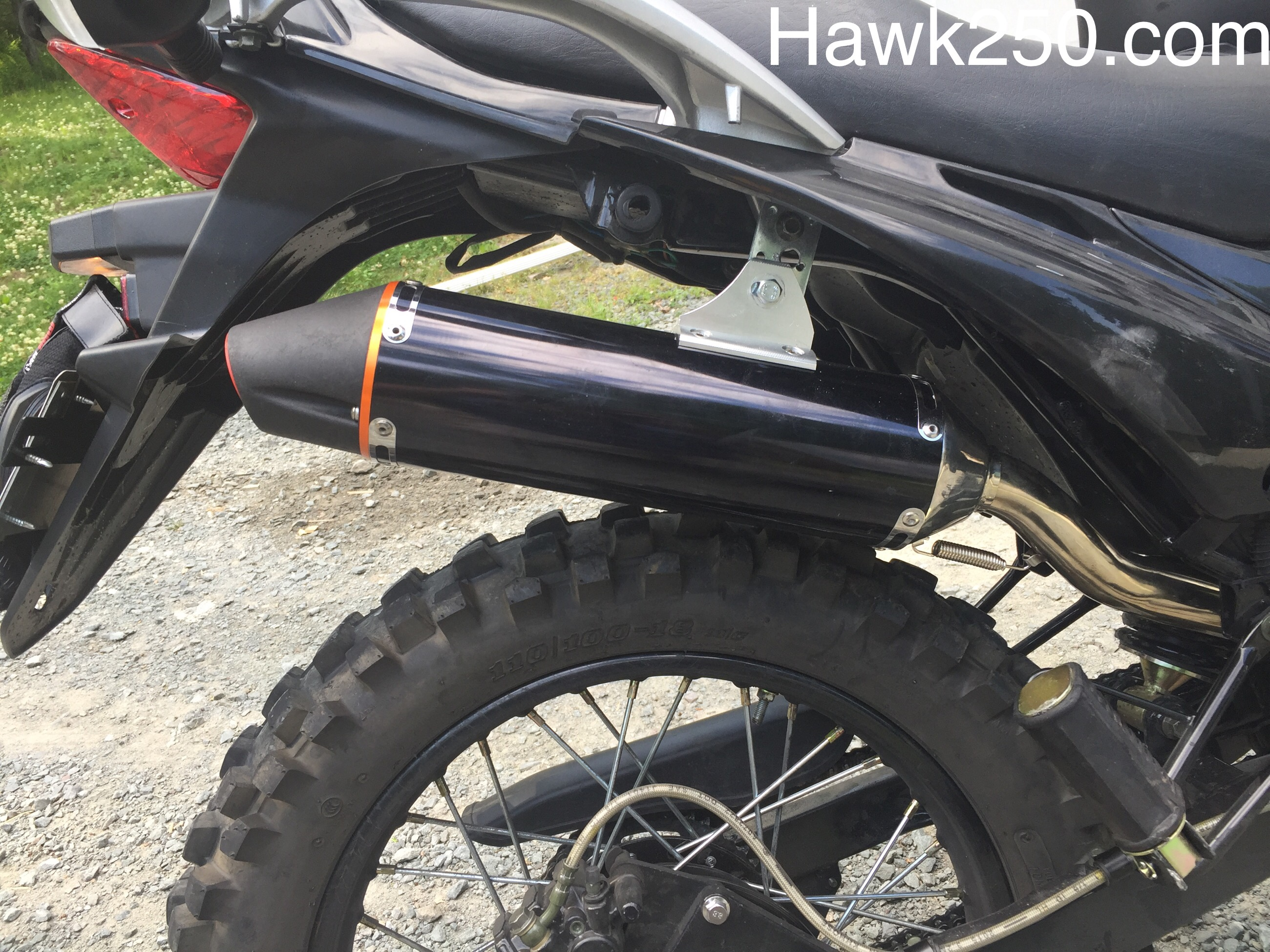 Hawk 250 Aftermarket Exhaust