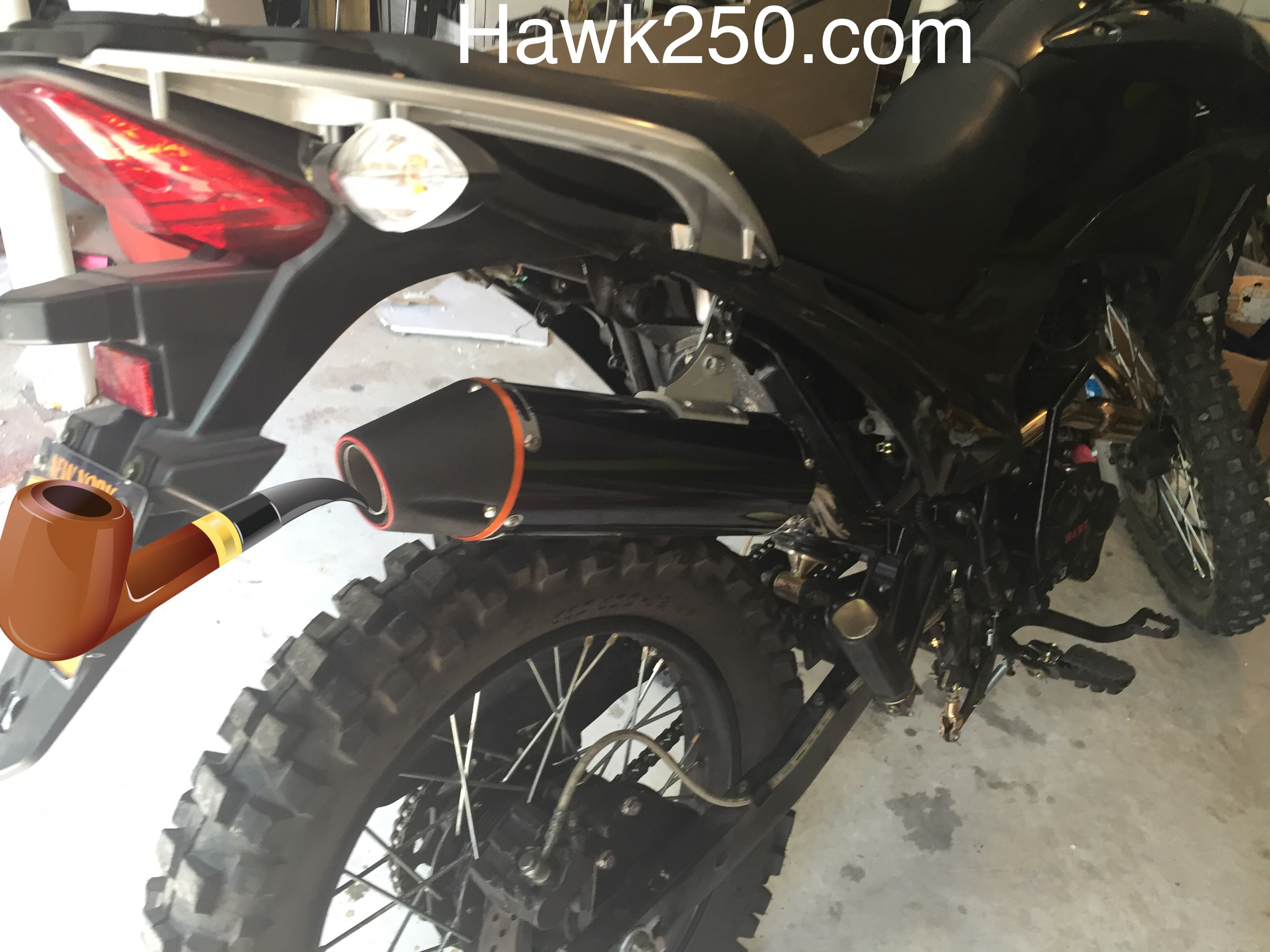 Extra Power Hawk 250 Exhaust