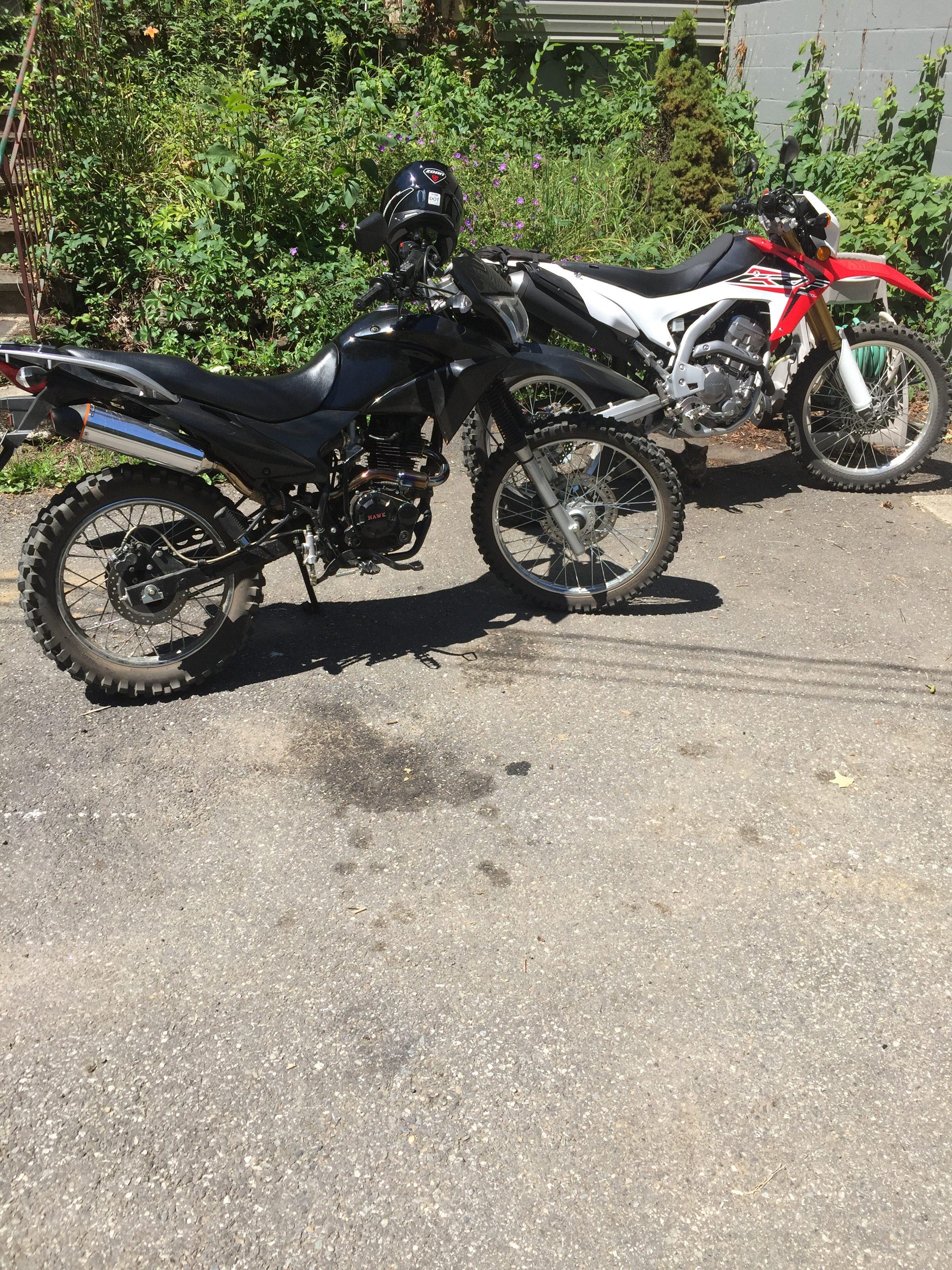 Hawk 250 and Honda Dirt Bikes