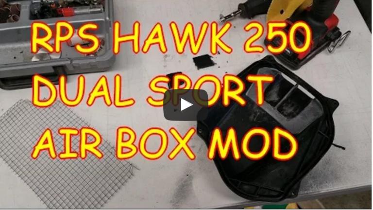 Hawk 250 RPS Dual Sport Air Box Mod Video