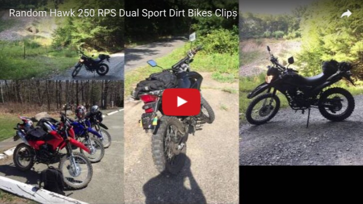 New Hawk 250 Dual Sport Random iPhone Clips Video