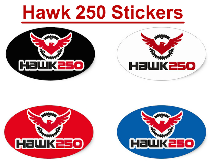 Does Your Hawk 250 Come With My Logo Sticker?