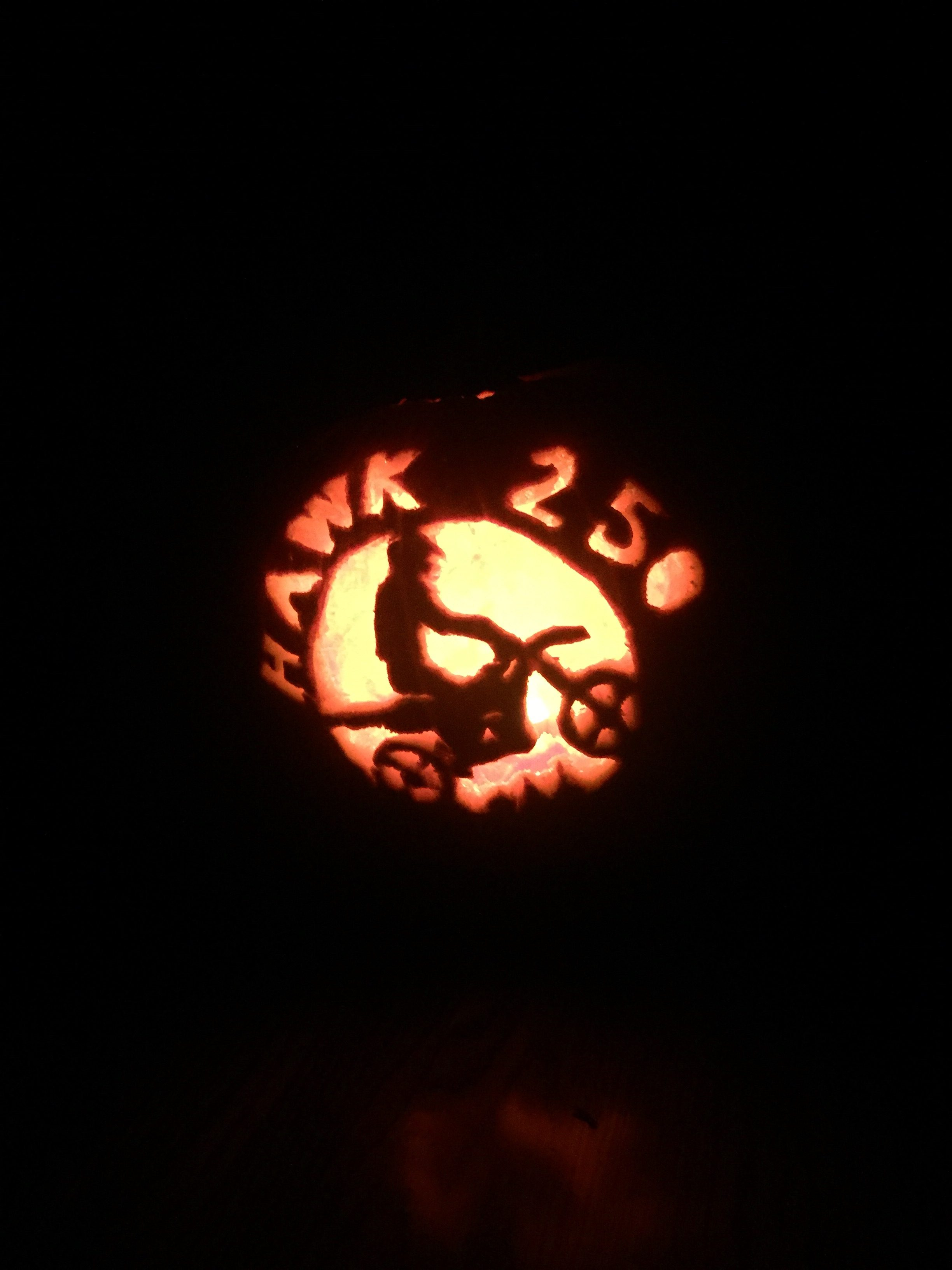 My Hawk 250 Pumpkin Carving