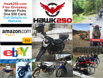 Hawk 250 $50 Free Giveaway for Supporting My Blog