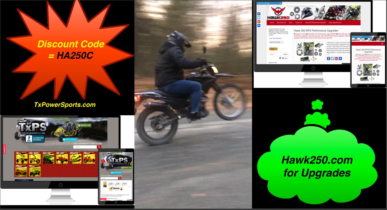 Buy Hawk 250 Discount Code