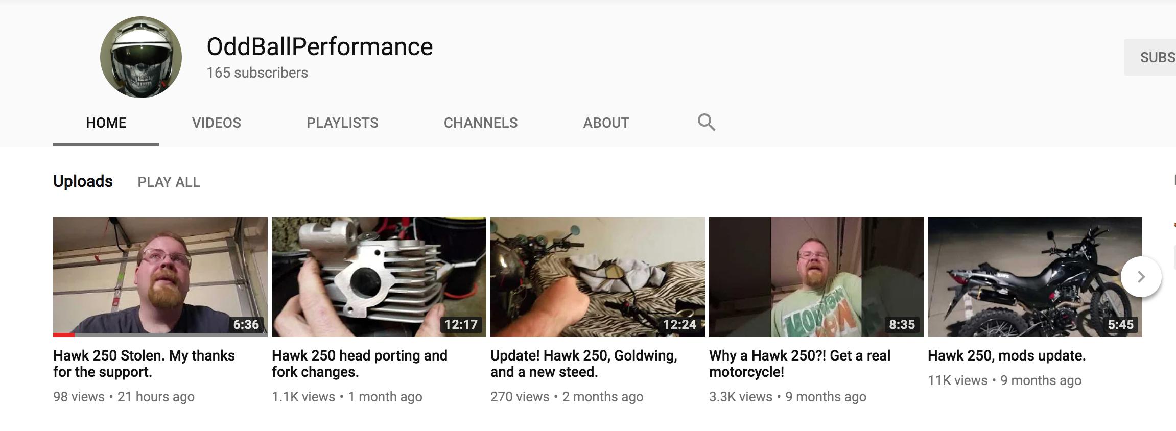 YouTuber OddBallPerformance's Hawk 250 Stolen - Lets Help Him Get Back On a Hawk