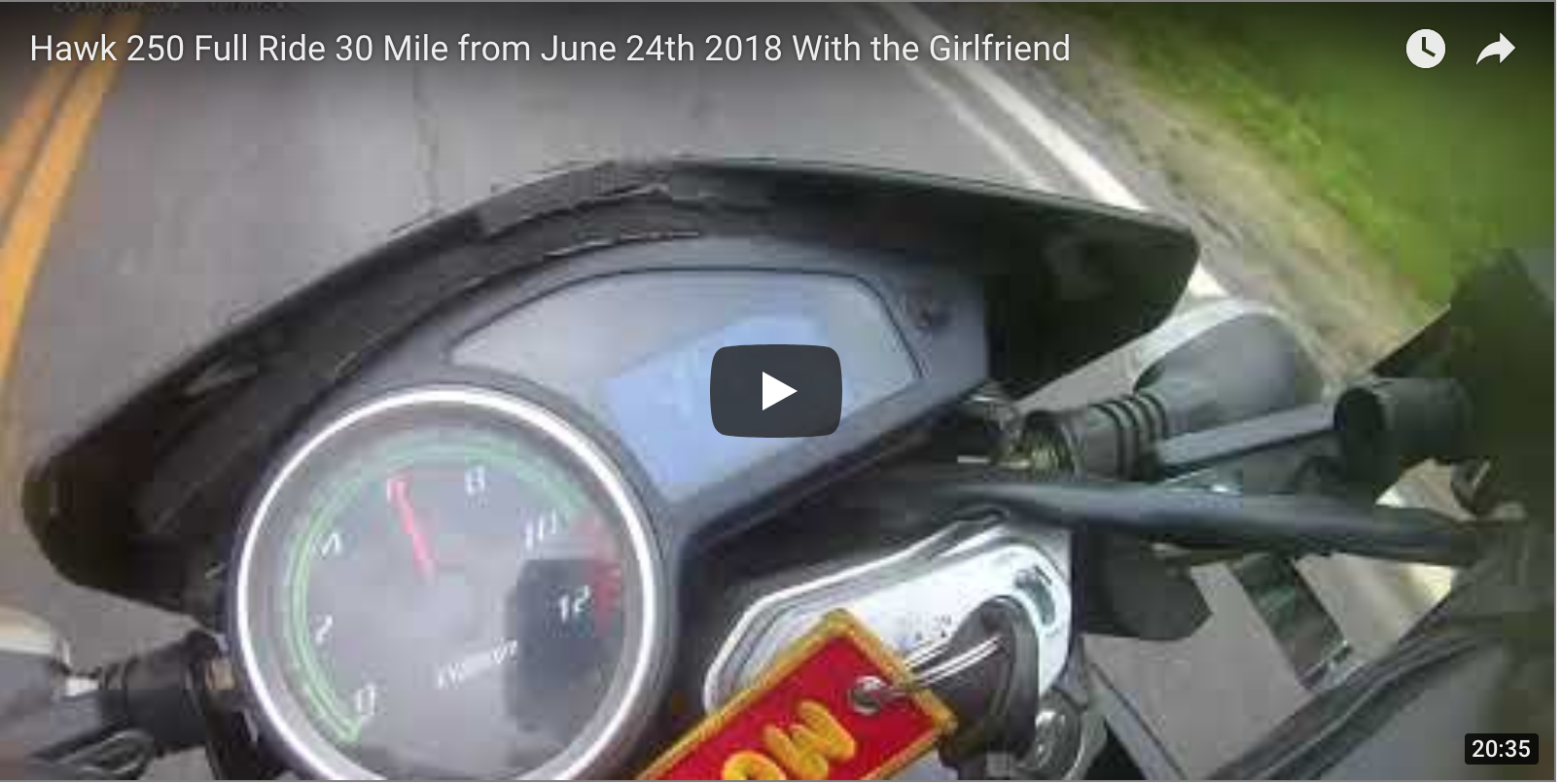 June 24th 30 Mile Ride with Dual Sport and Girlfriend Video
